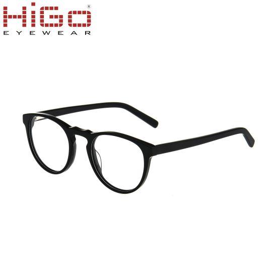 Reasonable Price Acetate Circle Lens Glasses Full Rim Optical Frame
