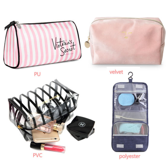 Women Travel Clear/Holographic Hanging Organizer Toiletry Makeup Cosmetic Bag