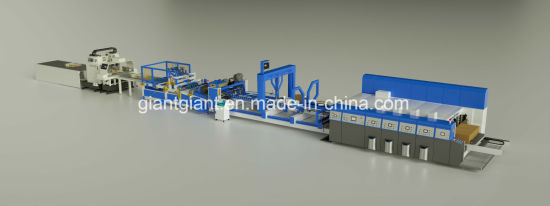 Flexographic Automatic Printing Slotting Die Cutting Folding Gluing Packing -- Corrugated Carton Box Making Packaging Machine
