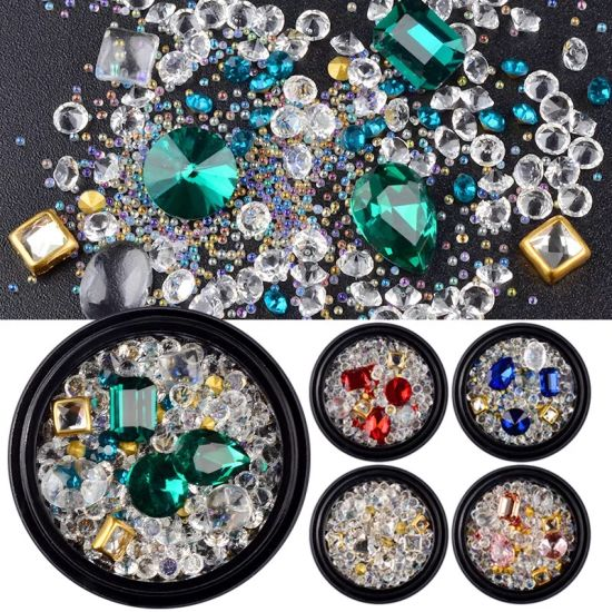 High Quality Mixed Style Crystal Rhinestone Beads Nail Art Designs