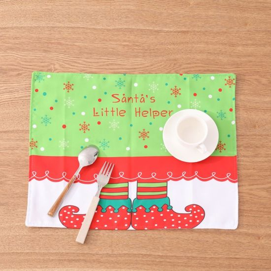 Christmas Items of Christmas Elf Table Mat pictures & photos