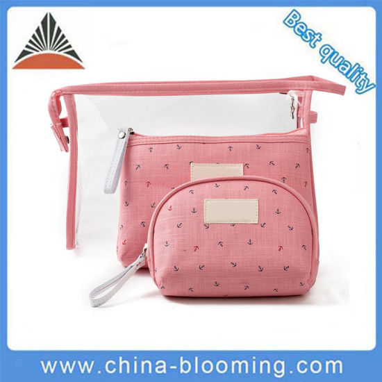 Women Promotional Lady Purse Pouch Portable Carrier Woman Carry Toilet Toiletry Waterproof Transparent Clear PVC Ladies Wash Makeup Travel Beauty Cosmetic Bag