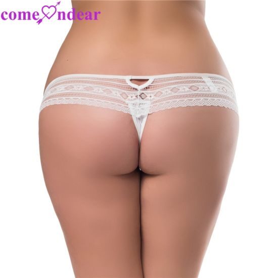 Wholesale Big Size Fashion White Lace Sexy Ladies Underwear pictures & photos