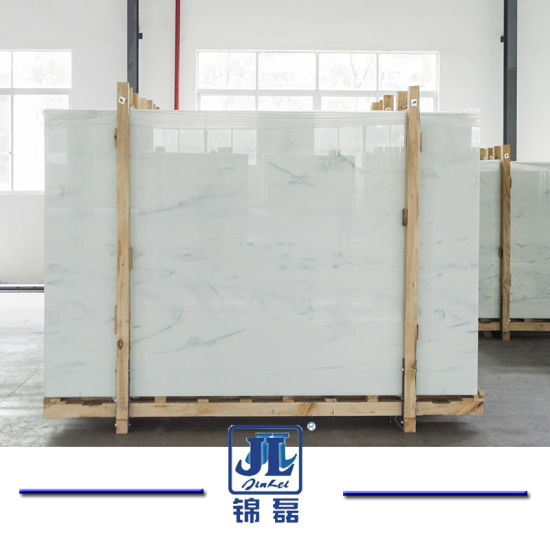 White Nano Crystallized Glass Stone for Floor, Background Wall, Bathroom, Kitchen Counter Top, Partitions, Tea Table, etc pictures & photos