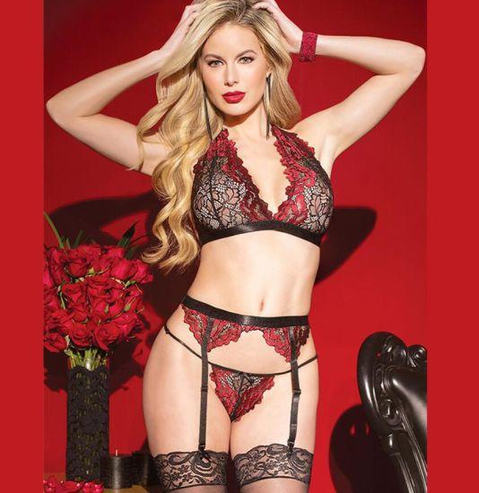 04b580be8 2019 Hot Fancy Transparent Sexy Lingerie Garter Sets - China Lingerie