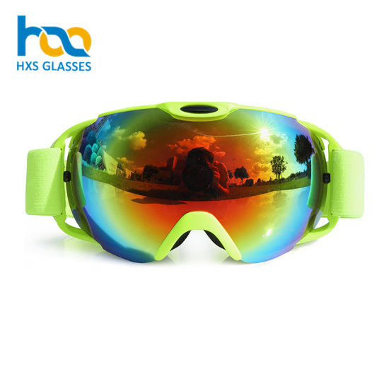 Guangzhou Manufacturer Factory Price Custom Strap Ski Snow Goggles pictures & photos