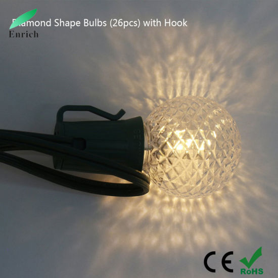 Solar Powered 25bulbs/String G40 Bulb String Light for Holiday Decoration pictures & photos