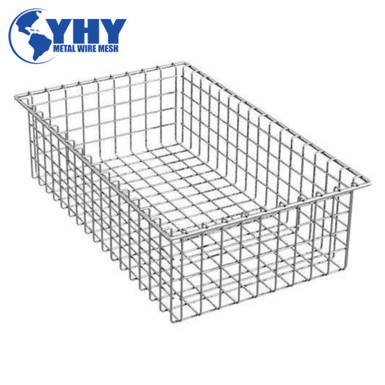 Metal Wire Square Shopping Tray Basket