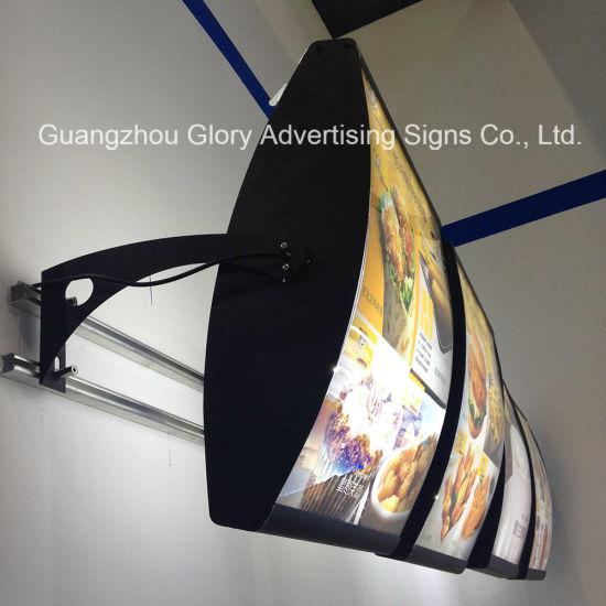 china advertising display board and led restaurant menu light box