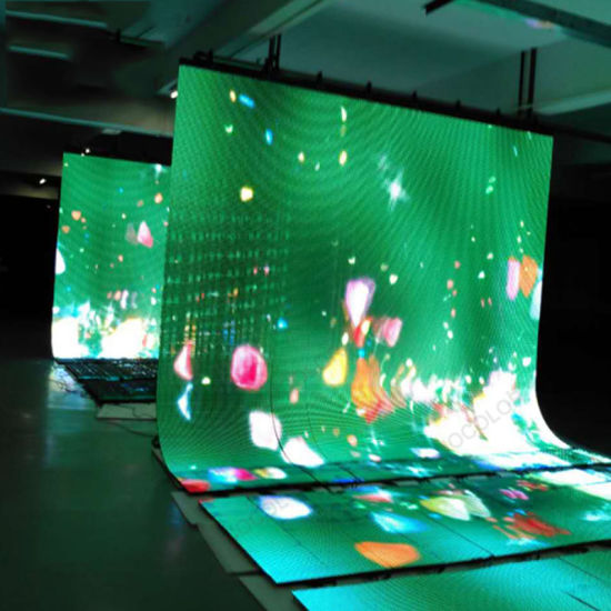 Flexible LED Display Indoor Foldable Screen High Color Uniformity Leightweight Video Wall Freight Saved Design