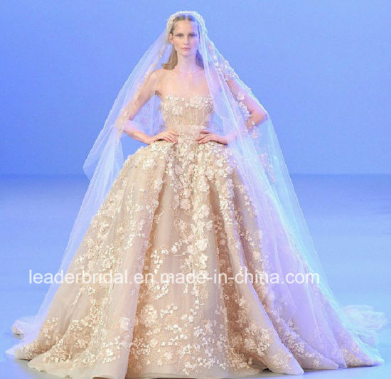 8f78b903034d Luxury Bridal Ball Gowns Elie Saab Crystals Corset Wedding Dress Wdo76  pictures & photos