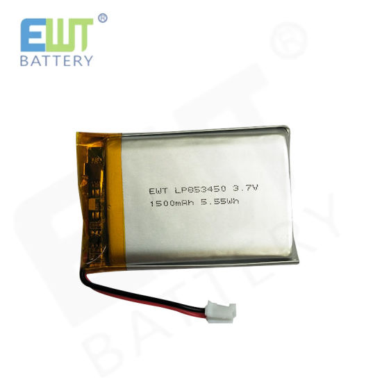 Ewt Lp853450 3.7V Polymer Battery 1500mAh with PCM