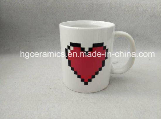Love Color Change Mug, Decal Printing Color Change Mug pictures & photos