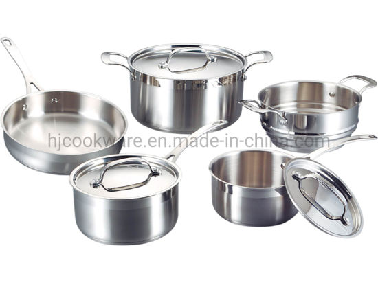 8PCS Stainless Steel High Grade Cookware Set with Steamer