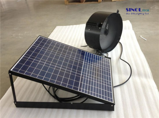 14 Inch 25w Wall Mount Solar Attic Fan With 35w 9 6ah Battery System 24 Hours Non Stop Working Sn2016013