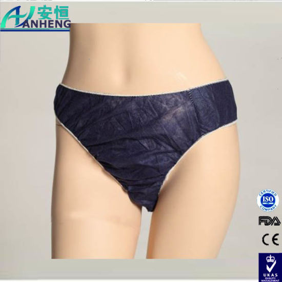 China Factory Wholesale Disposable Underwear, Women′s Bikini pictures & photos