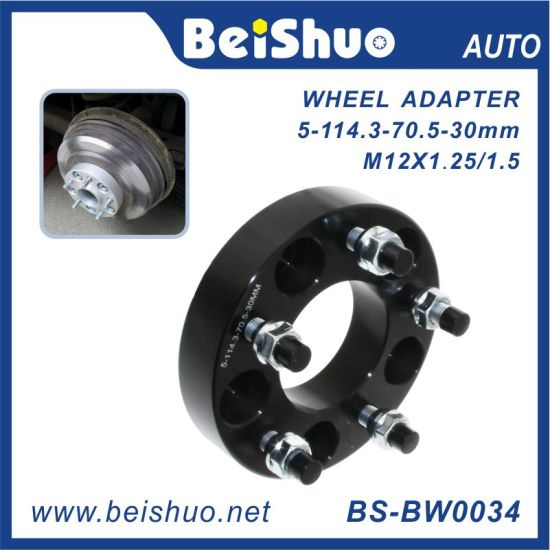 Costomize CNC Milled A6061-T6 Black Wheel Adapter for Car