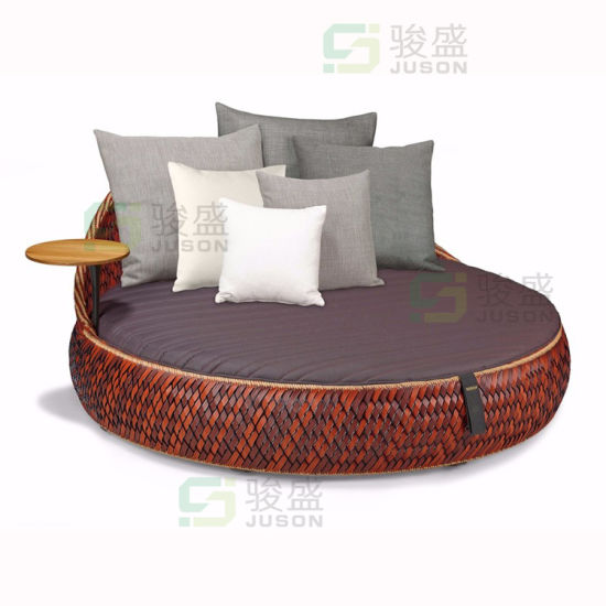 Modern Outdoor Furniture Patio Rattan Leisure Chair Wicker Sofa Bed Garden Daybed Lounge Beach Bed