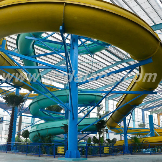 Fiberglass Open Body Spiral Slide (DLWS200) pictures & photos