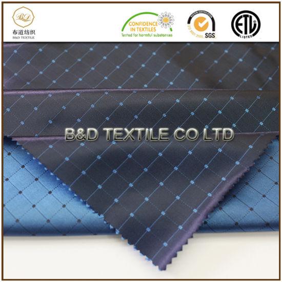 Wholesale Garment Textiles 100% Polyester Satin Dobby Fabricent Textiles