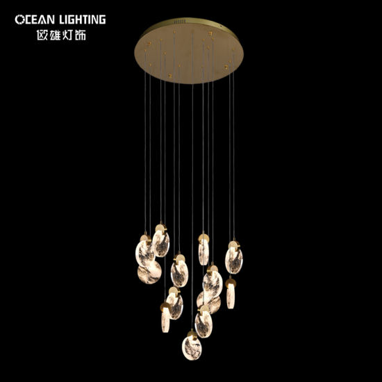 Round Crystal LED Modern Simple Chandelier