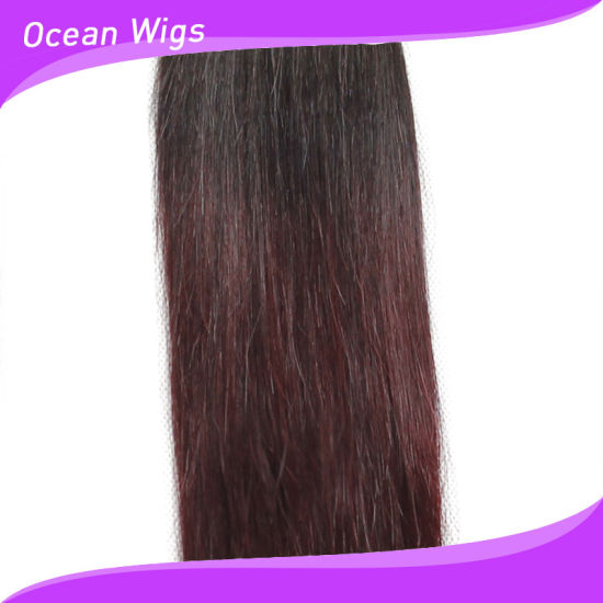 More Popular Tow Color Omber Human Straight Remy Hair Extension pictures & photos