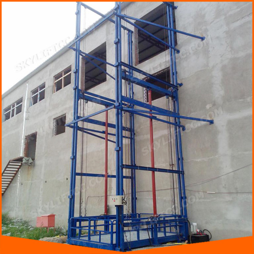 Vertical Hydraulic Guide Rail Chain Lifting Cargo Lift for Warehouse with Ce Inspection pictures & photos