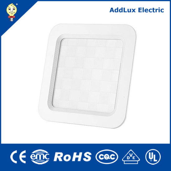 Saso Ce UL Square 18W SMD LED Ceiling Panel Light Made in China for Office, Store, Supermarket, Museum, Library, Classroom Lighting From Best Factory