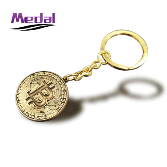 Hotsale Factory Price Bronze Bitcoin Bronze Keyring pictures & photos