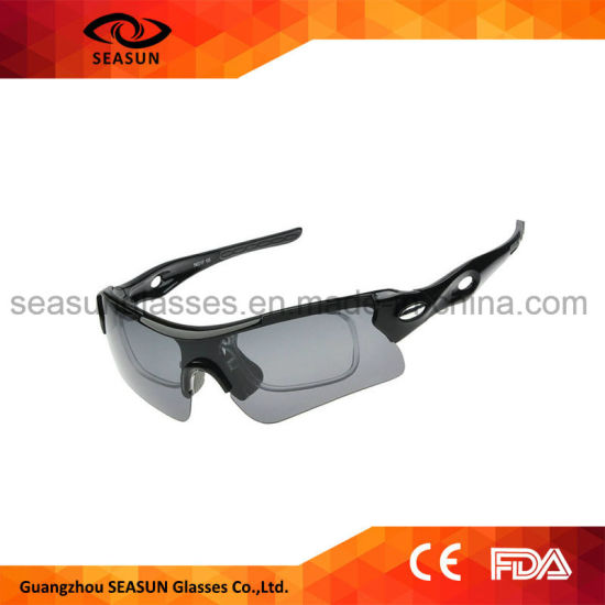 4f1e28087a Customized 2018 UV400 Outdoor Sport Eyewear Polarized Aviator Pilot  Sunglasses with Mirror Interchangeable Lens