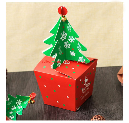 China Promotional Christmas Gift Packaging Paper Box With Clear Window And Wishes Card China Christmas Gift Box And Window Box Price