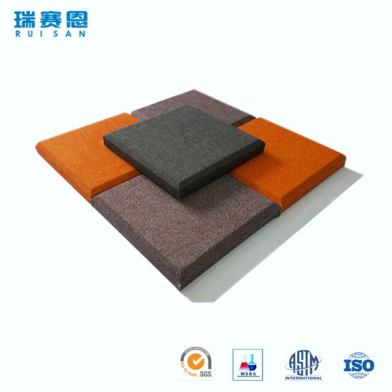 China Factory Cheap Price Polyester Fiber High Density Soundproof Acoustic  Foam Panels Acoustic