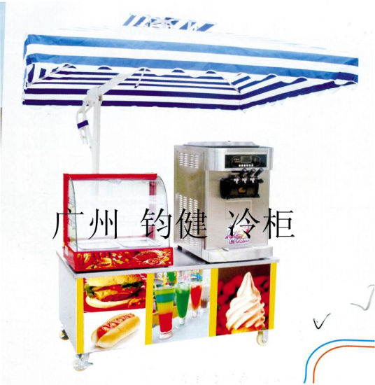 Warming Display Showcase+Ice Cream Machine Combination Mobile Vehicle (QCE-F05) pictures & photos