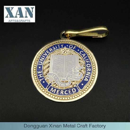a Dangling Commemorative Coin with Enamel