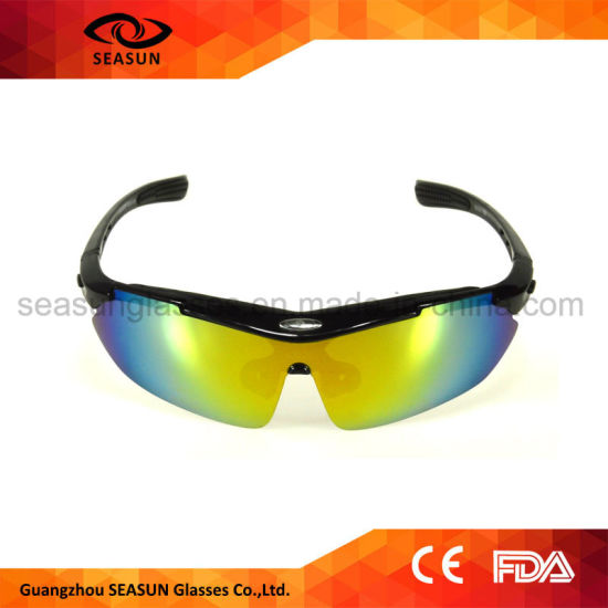 China Fashion Bicycle Custom Brands Sport Sunglasses Cheap Outdoor