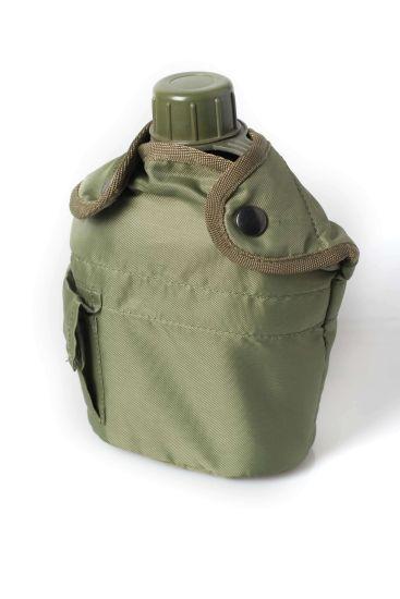 Deekon Military Water Bottle, Olive Drab Plastic Canteen & Cover, Sport Water Bottle