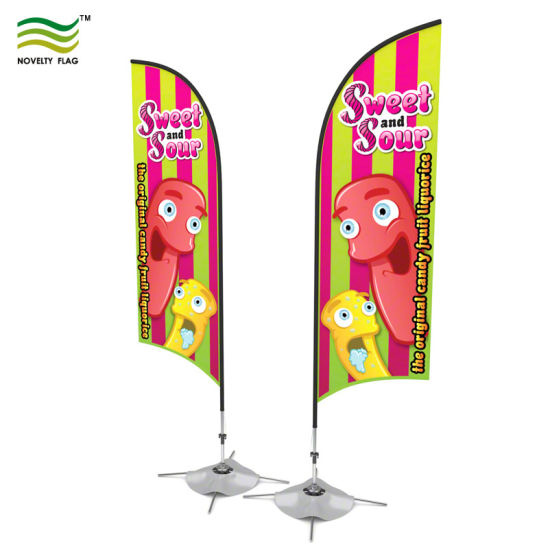 Quality Custom Flying Beach Blade Teardrop Feather Flags (TR-NF04F06059) pictures & photos