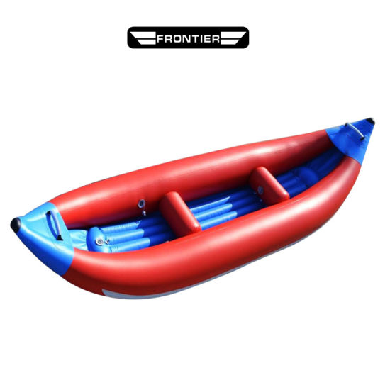 2 Person PVC Inflatable Fishing Racing Kayak with Paddle