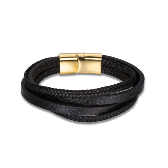 Bracelet made of leather with buckle design