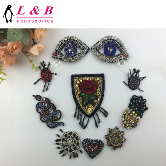 2017 New Arrival Handmade Beaded Applique/Patch for Decoration