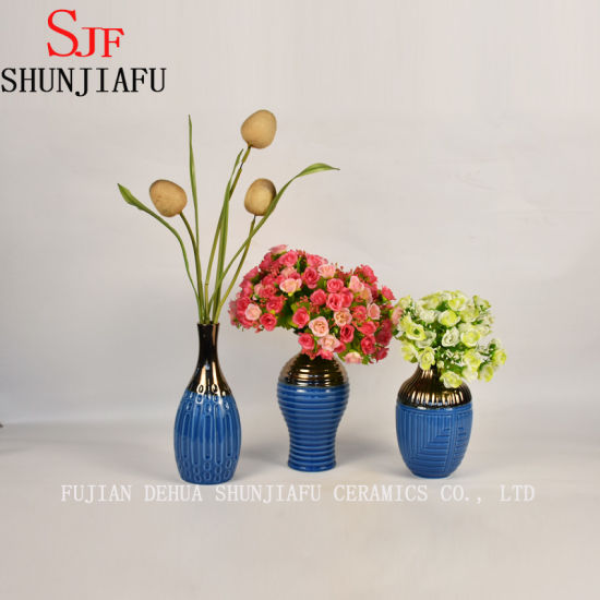 China High End Style Small Ceramic Flower Vase For Home Decoration