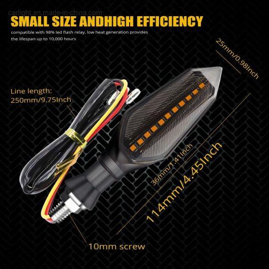 New Waterproof Amber Light Universal LED Motorcycle Turn Signal Indicators Light