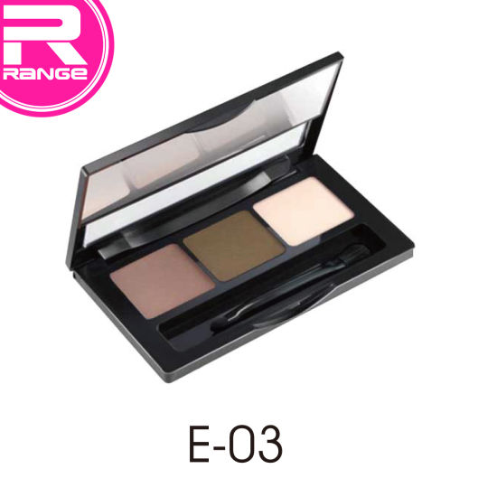 3 Colors in 1 Long Lasting Waterproof Makeup Eyebrow Powder with Mirror pictures & photos