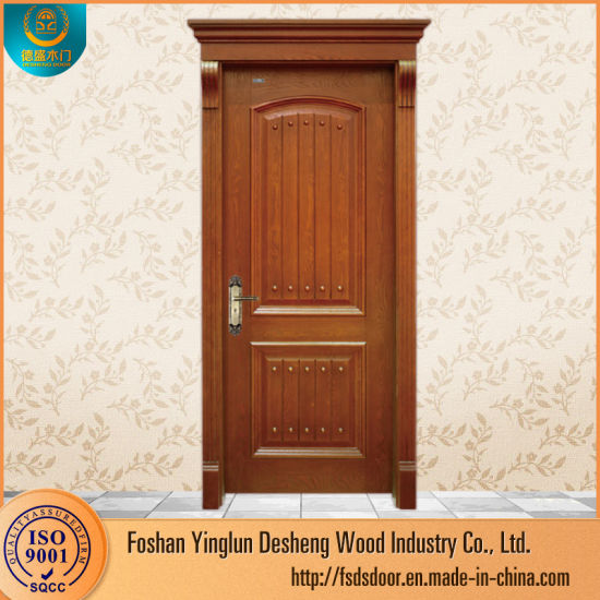 Desheng Modern Designs Solid Teak Wood Door For Home Design