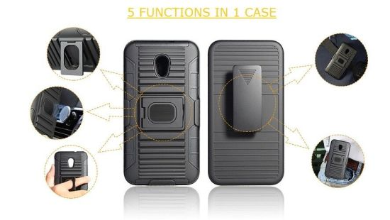 Newest High Quality Rugged Plastic Armor Case TPU PC 3 in 1 Kickstand Case for iPhone X Case pictures & photos