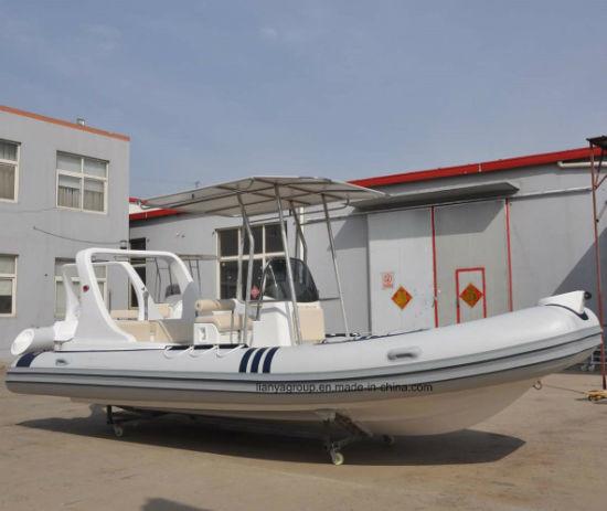 China Liya 20FT Fishing Boat Fiberglass V Hull Rigid Inflatable Boat