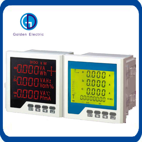 0db1adc9f6c273 96mm *96mm Flush Mounting Meter Active Reactive and Apparent Energy (import  &export) Power Factor Phase Angle Harmon with RS232/RS485