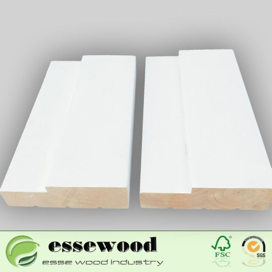 China Exterior or Interior Primed Solid Pine, Fir Finger Joint Door ...
