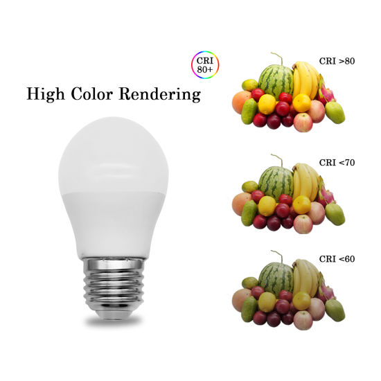 G45 7W B22 Low Power LED Light Bulb with Ce RoHS Certificate IC Driver