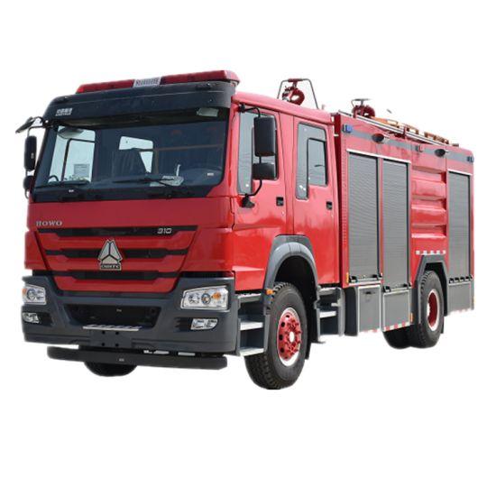 HOWO Water Foam Dry Powder Combination Fire Truck Water Tank 4000L Foam Tank 2000L Dry Powder 1ton